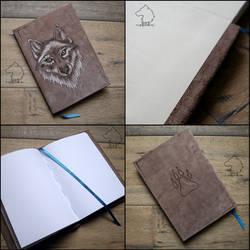 Wolfybook - handmade sketchbook