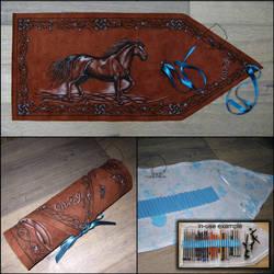 Blue Horse Pencil Wrap