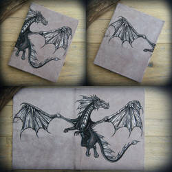Dragon Sky - leather journal