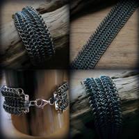 The Great Aligator - titanium bracelet by Dark-Lioncourt