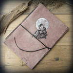 Wolf Moon big leather journal by Wicked-Darkling