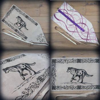 Wolf leather pencil wrap by Dark-Lioncourt