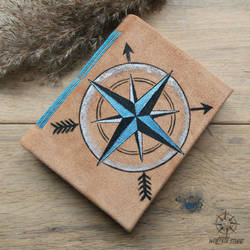 Arrows and Compass leather journal by Dark-Lioncourt