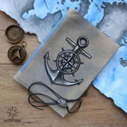 Anchor log book - hand-crafted journal by Dark-Lioncourt