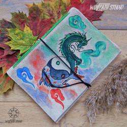 Eastern Dragon handmade journal by Dark-Lioncourt
