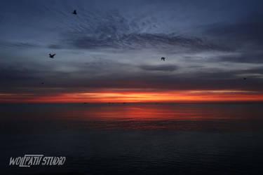 Baltic summer sunrise by Dark-Lioncourt