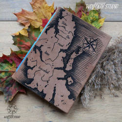 Leather bound Isle of Skye handcrafted travel book