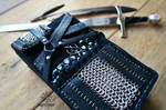 The Witcher Viper Armour leather card case by Wicked-Darkling