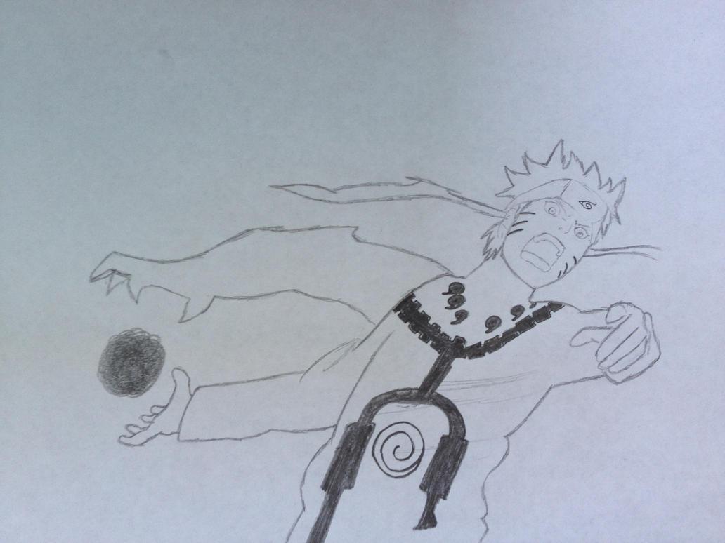 Naruto(Kyuubi Mode Rasengan) by FazeRaze900x on DeviantArt
