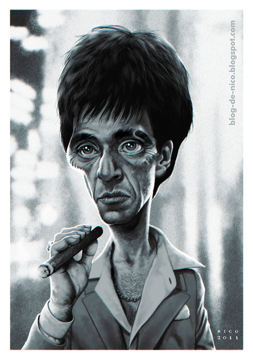 Scarface by electronic0 on deviantart - Scarface cartoon wallpaper ...
