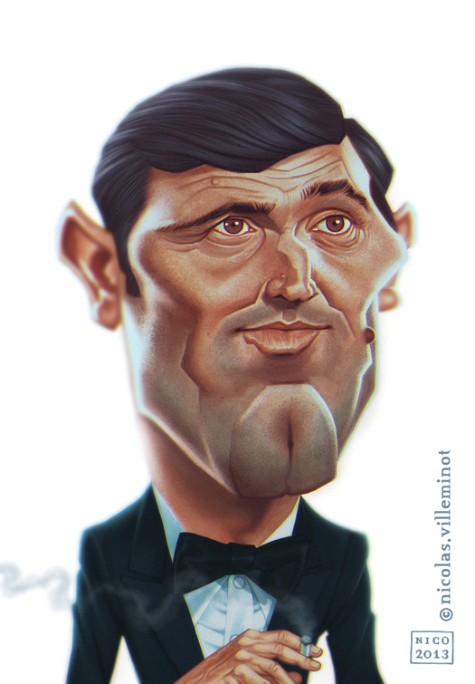 George Lazenby as James Bond by ElectroNic0