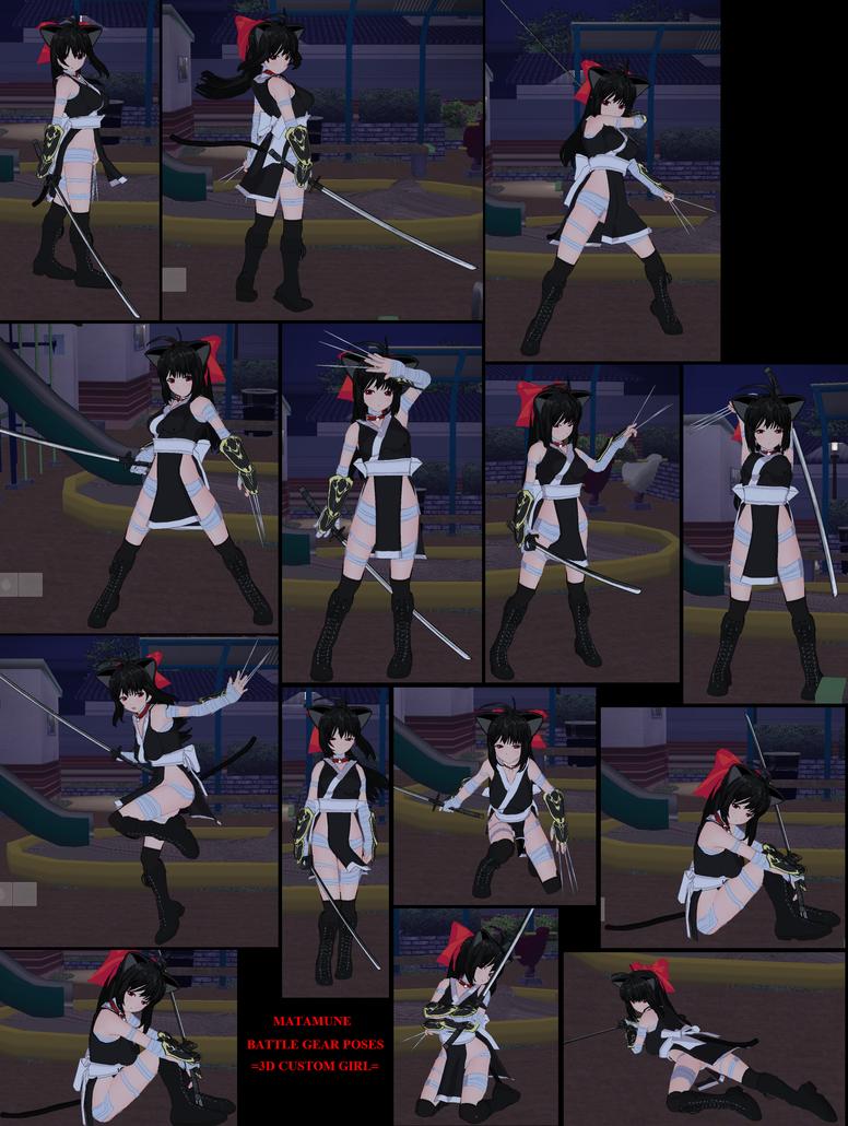 D Custom Girl Evolution Pose, Animation and other Data.