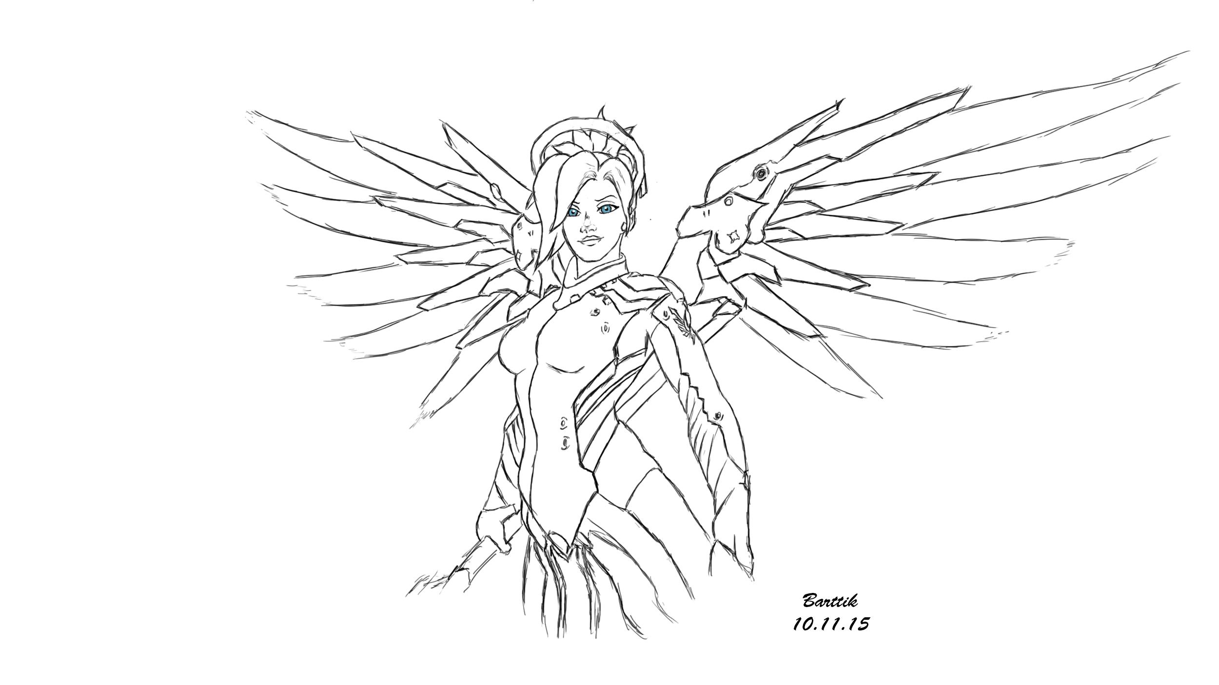 Line Art Reddit : Mercy overwatch by barttik on deviantart