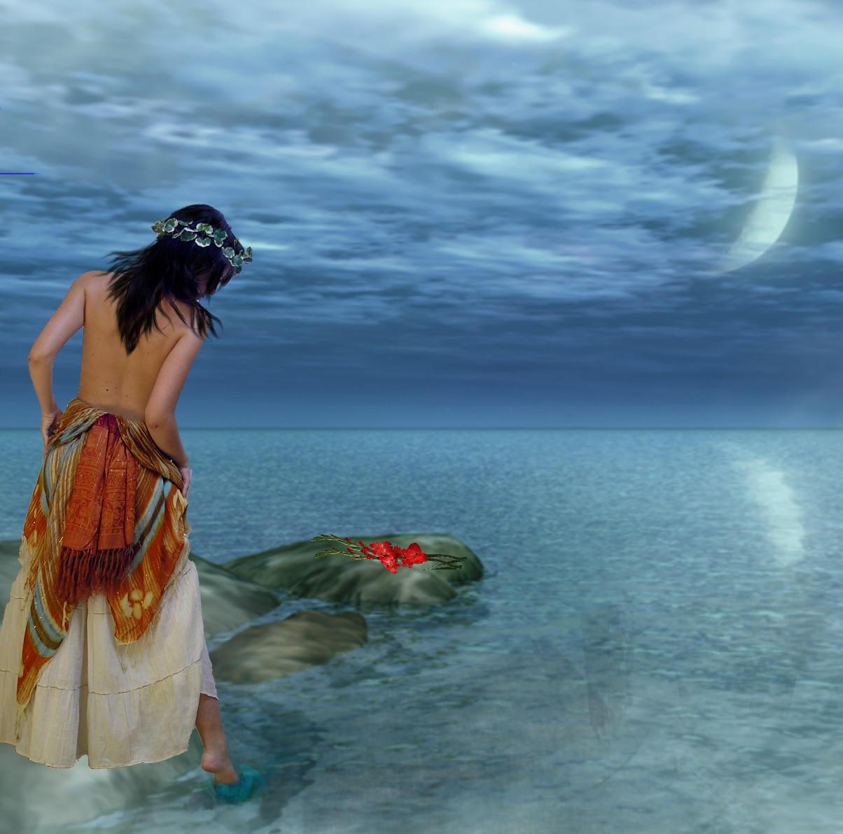 A Bath Under The Moon By Lil Desi Chik On Deviantart