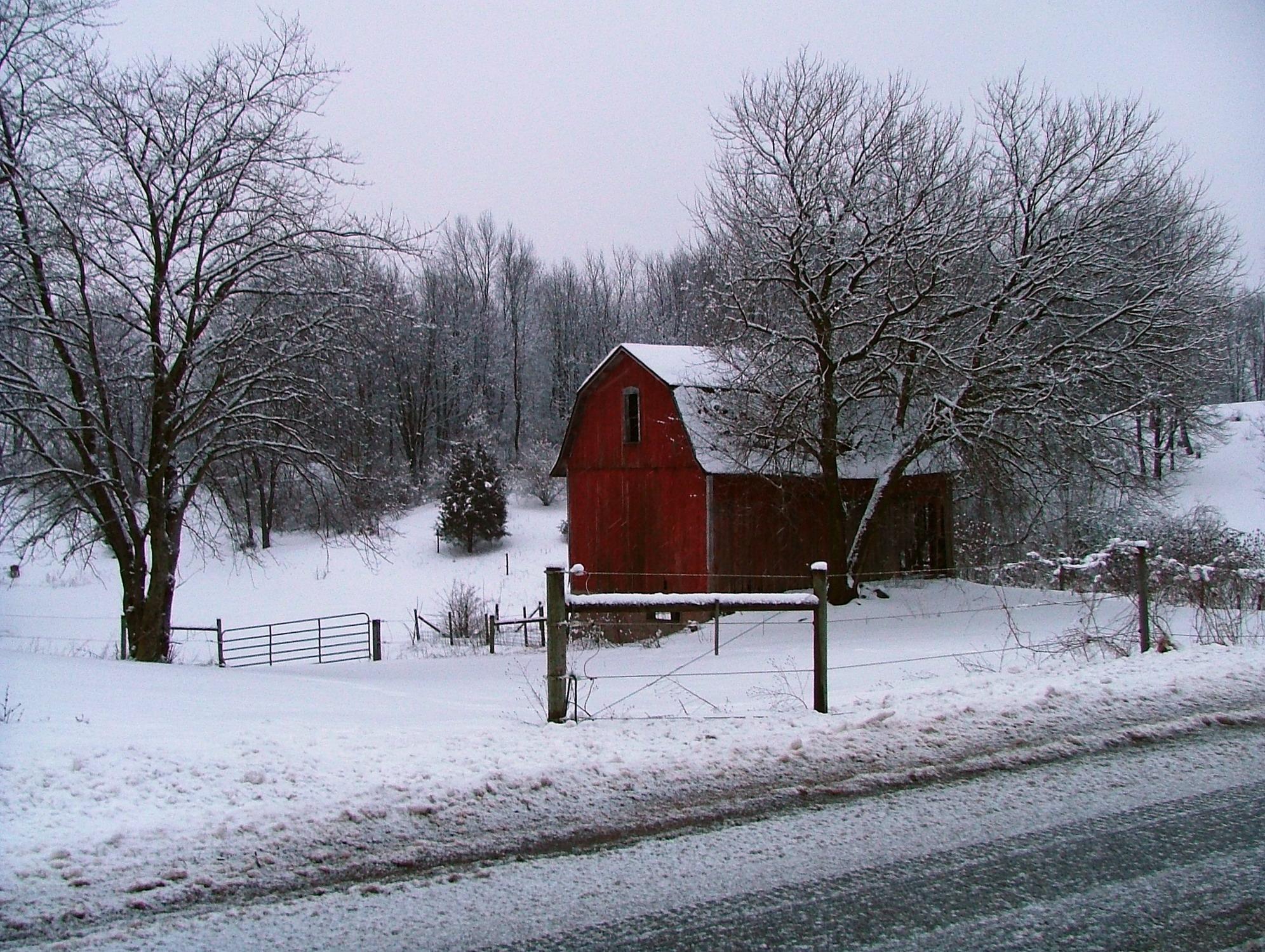 Winter Barn Landscape By Deviantgirl77 On Deviantart