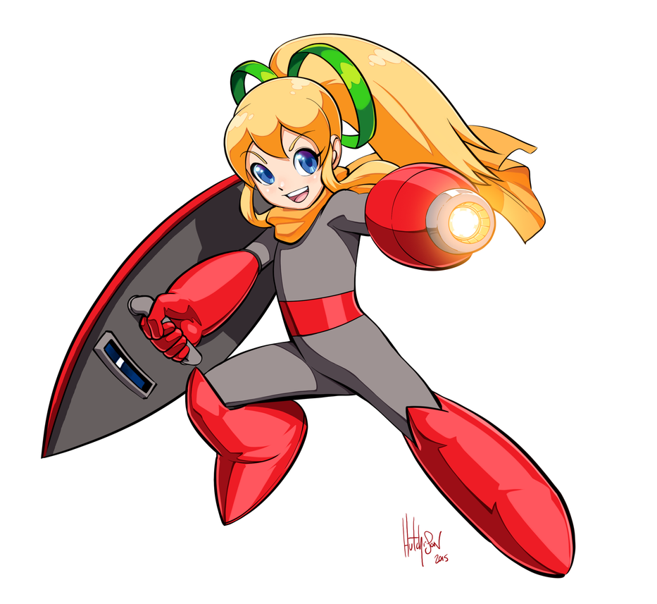 Roll's Protoman cosplay by Dhutchison