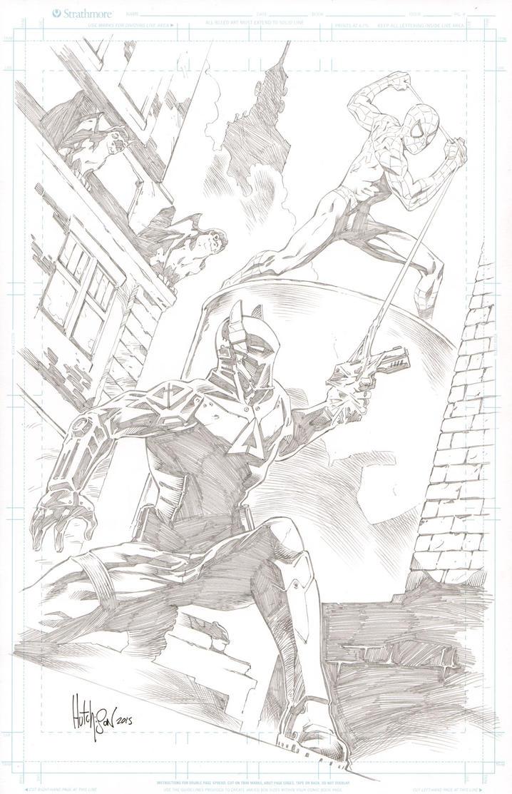 Spider-man vs Arkham Knight by Dhutchison