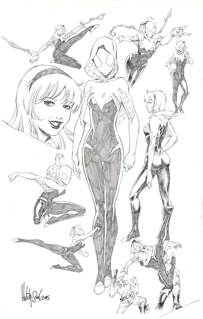 Spider-Gwen by Dhutchison