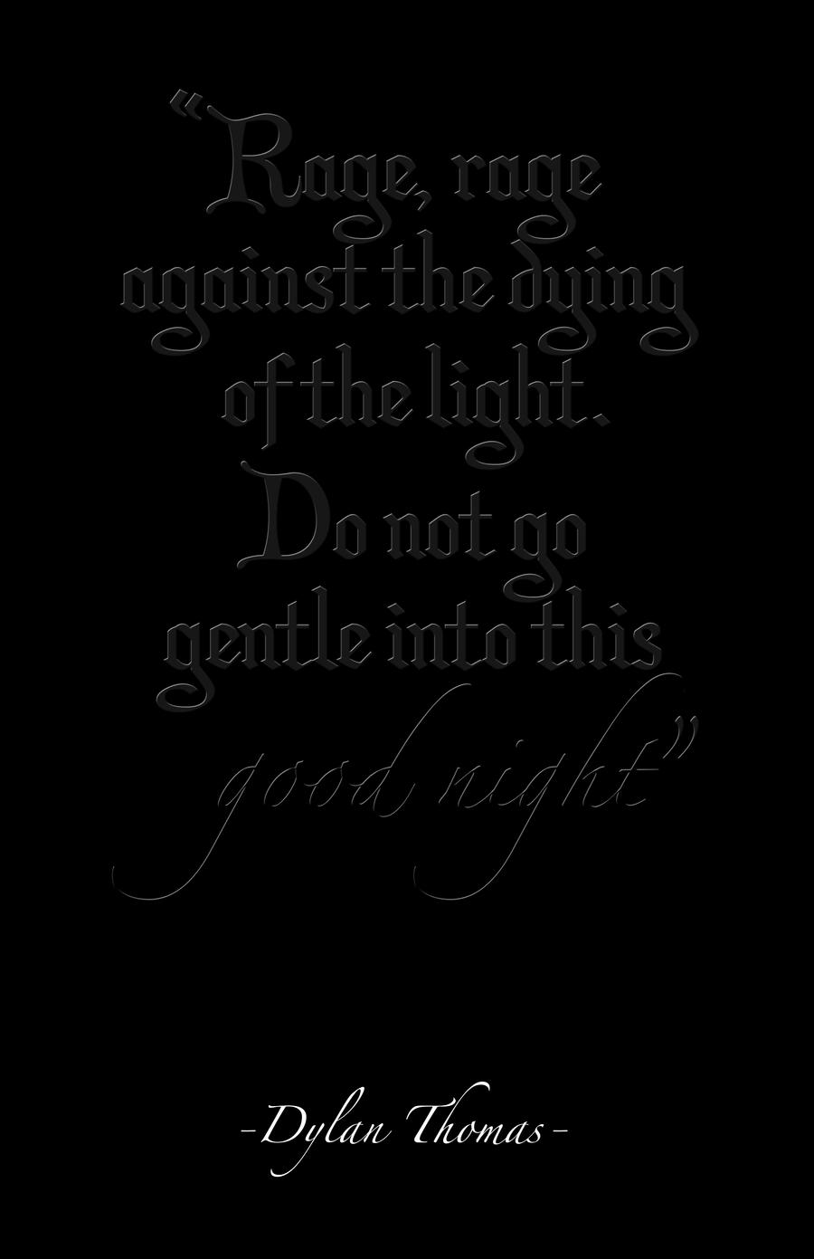 do not go gentle into that good night essays