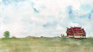 Wat Landscape by EshMholl