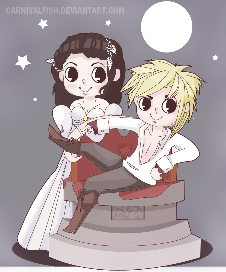 Labyrinth: Jareth + Sarah by carnivalfish