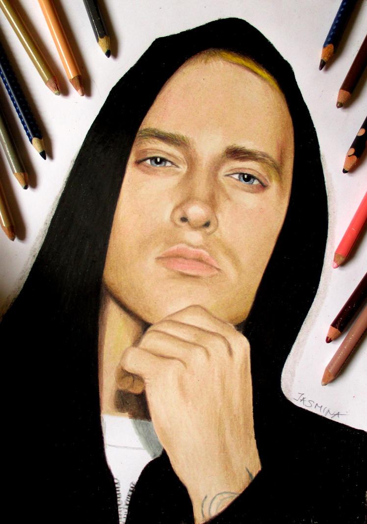 Eminem portrait in colored pencil by JasminaSusak