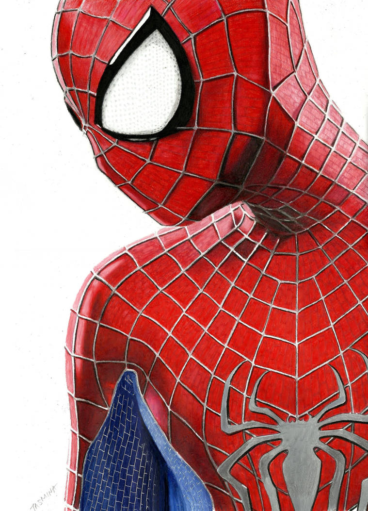 The amazing spider man 2 colored pencil drawing by jasminasusak on