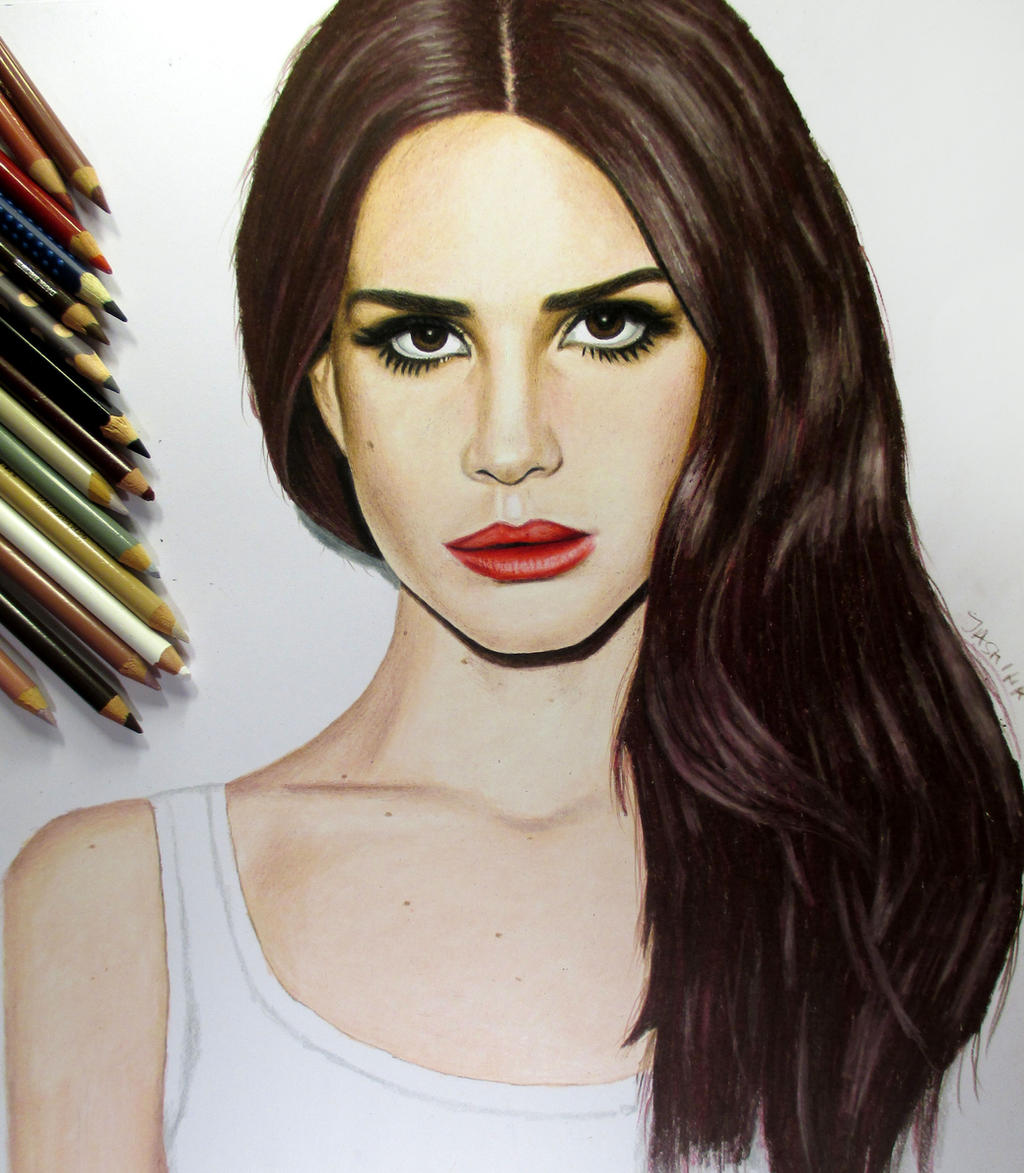 Lana Del Rey Colored Pencil Drawing by JasminaSusak on ...
