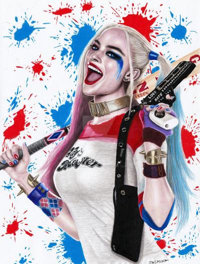 Colored Pencil Drawing Of Harley Quinn By Jasminasusak On