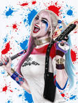 Colored Pencil Drawing of Harley Quinn