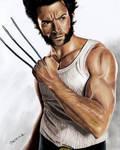Colored Pencil Drawing: Hugh Jackman as Wolverine