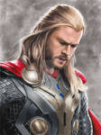 Colored Pencil Drawing: Chris Hemsworth as Thor
