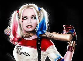 Drawing Harley Quinn by JasminaSusak