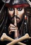 Drawing Johhny Depp as Captain Jack Sparrow