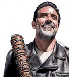 Colored Pencil Drawing of Negan and Lucille :)