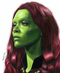 Colored Pencil Drawing of Gamora