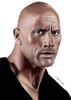 Drawing Dwayne The Rock Johnson by JasminaSusak