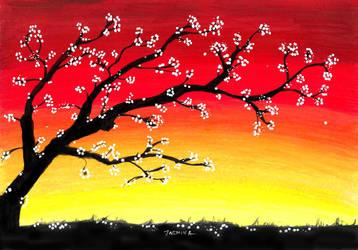 Landscape in Colored Pencil by JasminaSusak
