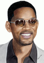 Colored Pencil Drawing of Will Smith by JasminaSusak