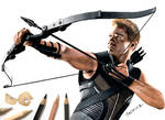 Colored Pencil Drawing of Hawkeye