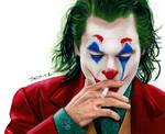 Colored pencil drawing: Joaquin Phoenix  The Joker