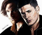 Drawing Sam and Dean