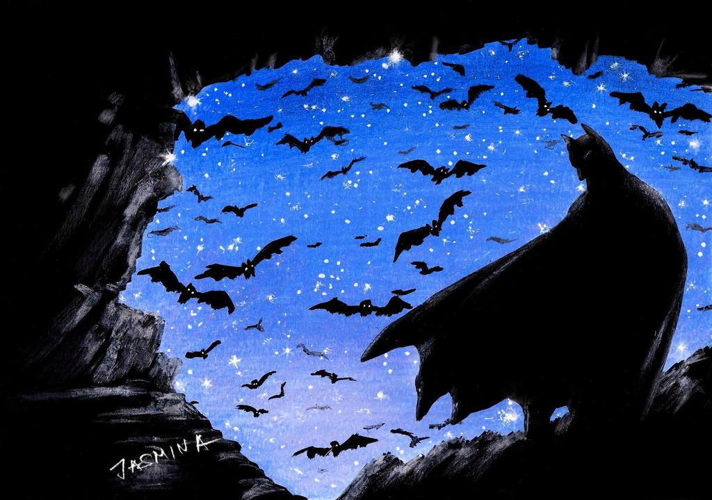 Drawing Batman in the Batcave