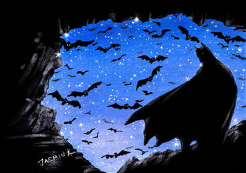 Drawing Batman in the Batcave by JasminaSusak