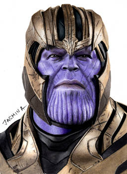 Colored pencil drawing of Thanos