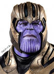 Colored pencil drawing of Thanos by JasminaSusak