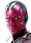 Colored pencil drawing of Vision