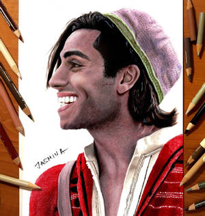 Colored pencil drawing of Aladdin