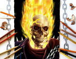 Colored Pencil Drawing of Ghost Rider by JasminaSusak