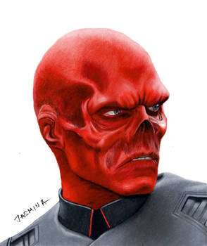 Red Skull - Colored Pencil Drawing